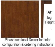 """36"""" x 36"""" Square Table w/ 36"""" Shaker Legs Espresso & Almond"""