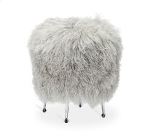 Antonia Stool - Grey Sheepskin
