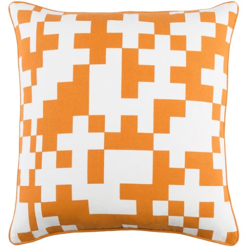 "Inga INGA-7018 18"" x 18"" Pillow Shell with Polyester Insert"