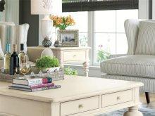 Rectangular End Table - Linen