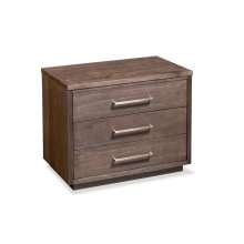Ironwood 3-Drawer Nightstand, Extra Wide