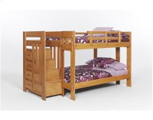 Heartland Staircase Bunk Bed with options: Honey Pine