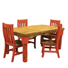 "Chair : 19"" x 19.5"" x 40"" Red Table and Chairs"
