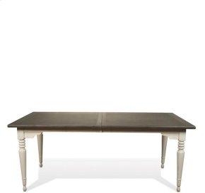 Juniper Rectangular Dining Table Chalk/Charcoal finish