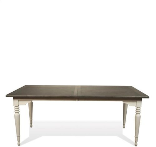Juniper Rectangular Dining Table Chalk/Charcoal finish