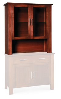 "East Village Open Hutch Top, 43 1/2""w, Antique Glass Product Image"