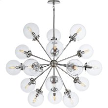 Visual Comfort S5271PN-CG Ian K. Fowler Bistro 18 Light 32 inch Polished Nickel Pendant Ceiling Light, Ian K. Fowler, Medium, Round, Clear Glass
