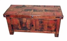 "63"" Red Rubbed Trunk"