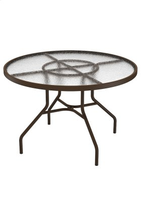 """Acrylic 42"""" Round Dining Table"""