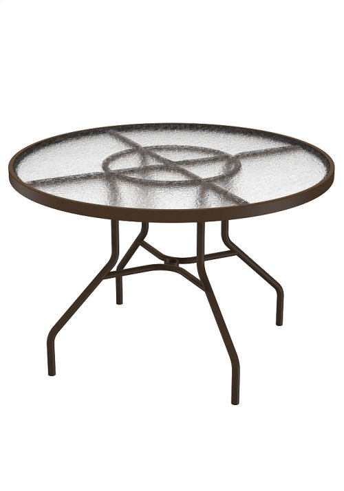 "Acrylic 42"" Round Dining Table"