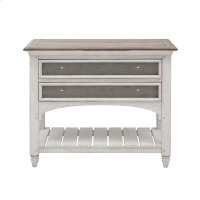 Glendale Estates 2 Drawer USB Charging Open Nightstand Product Image
