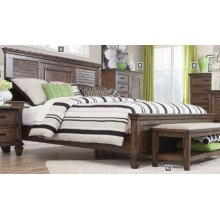 Franco Burnished Oak King Bed