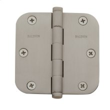 "Satin Nickel 5/8"" Radius Corner Hinge"