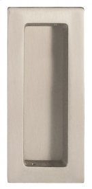 Modern Rectangular Flush Pull - Solid Brass in US15 (Satin Nickel Plated, Lacquered) Product Image