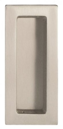 Modern Rectangular Flush Pull - Solid Brass in US15 (Satin Nickel Plated, Lacquered)