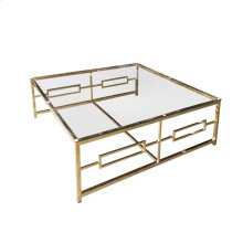 Stainless Steel /glass Cocktail Table, Gold, Kd