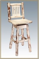 Montana Log Swivel Barstool Product Image