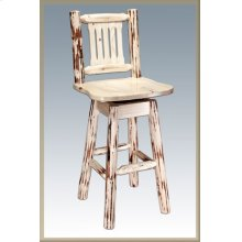 Montana Log Swivel Barstool
