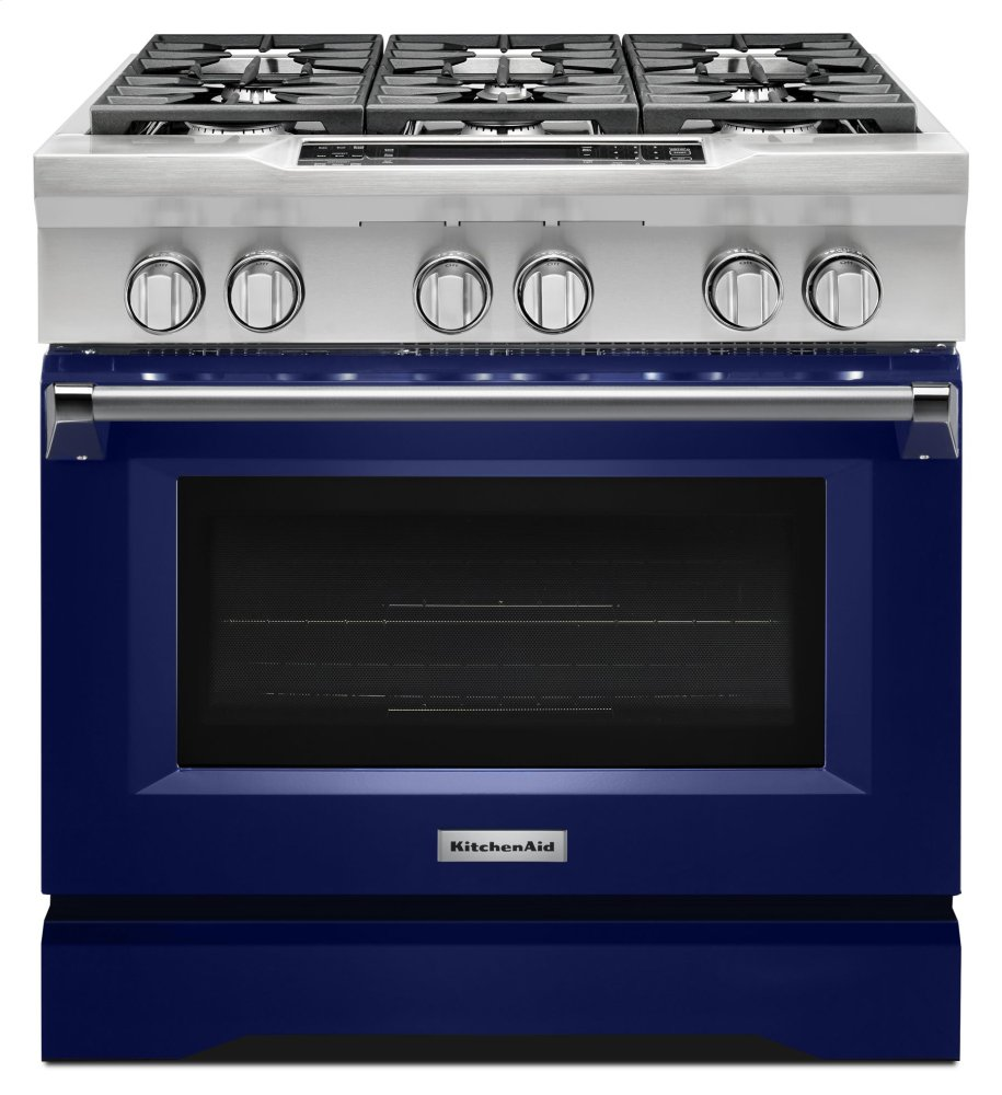 KDRS467VBU KitchenAid 36\'\' 6-Burner Dual Fuel Freestanding ...