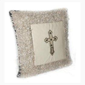 Braxton Ivory Shaggy Pillow
