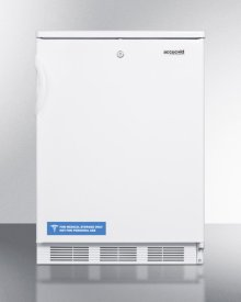 Freestanding Counter Height All-refrigerator for General Purpose Use, With Front Lock, Automatic Defrost Operation and White Exterior