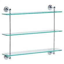 Three tier glass shelf