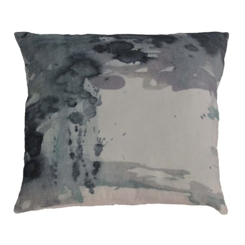 Cloudy Velvet Feather Cushion 25x25