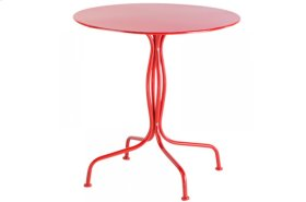 "Martini Iron 27.5"" Round Bistro Table - Cherry Pie"