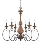 Auburn Chandelier in Rustic Black Product Image