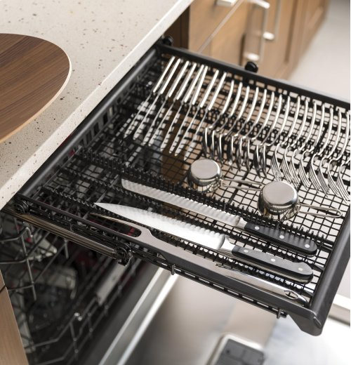 GE® Stainless Steel Interior Dishwasher with Hidden Controls