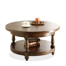 Newburgh Round Coffee Table Antique Ginger finish-Floor Sample-**DISCONTINUED**