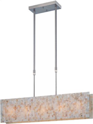 Ceiling Lamp, Ps/shell Mosaic Shade, E12 Type B 40wx5