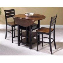 CR-A7572  3 Piece Drop Leaf Pub Table Set