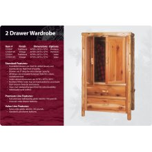 2 Drawer Wardrobe