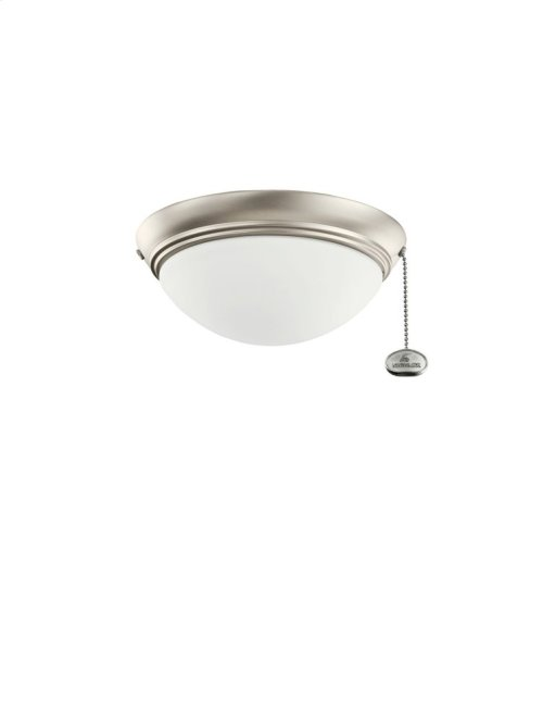 Small Low Profile Outdoor Light Kit Brushed Nickel