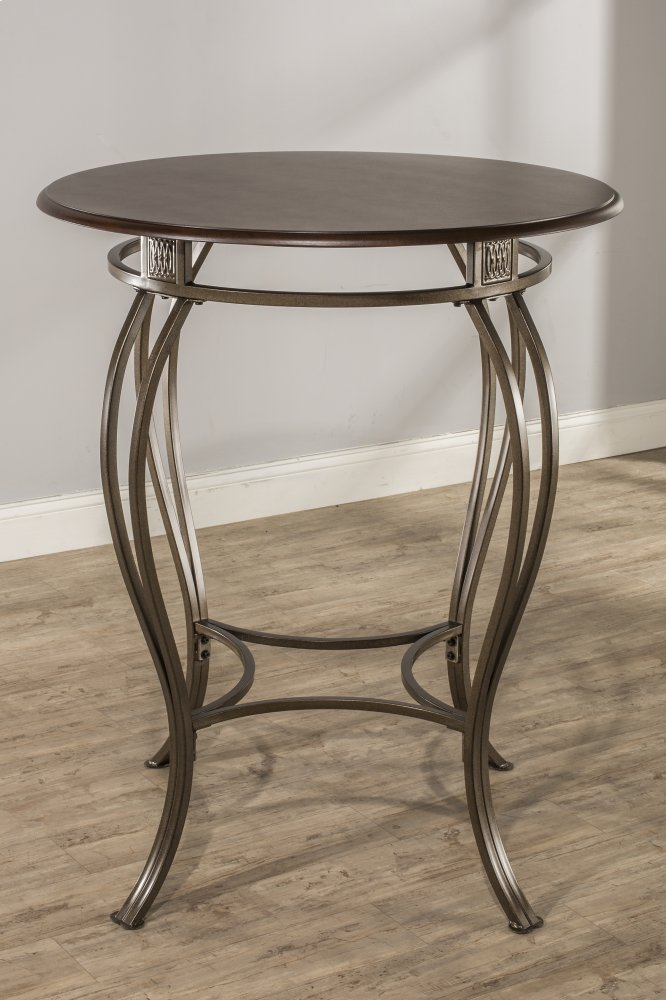 Montello Bar Height Bistro Table   Ctn   Round Metal Table Base Only   Old  Steel
