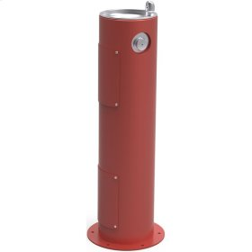 Elkay Outdoor Fountain Pedestal Non-Filtered, Non-Refrigerated Red