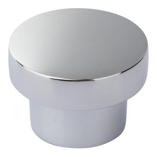 Chunky Round Knob Medium 1 7/16 Inch - Polished Chrome