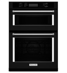 """KitchenAid® 30"""" Combination Wall Oven with Even-Heat True Convection (Lower Oven) - Black"""