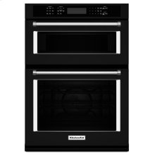 "KitchenAid® 30"" Combination Wall Oven with Even-Heat True Convection (Lower Oven) - Black"