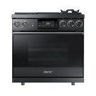"36"" Pro Dual-Fuel Steam Range, Silver Stainless Steel, Liquid Propane Product Image"