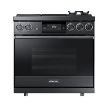 "36"" Pro Dual-Fuel Steam Range, Graphite Stainless Steel, Liquid Propane/High Altitude"