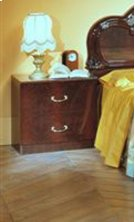 Melania Italian Classic Mahogany Nightstand Product Image