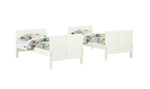 Emerald Home B209-17-k Ashlyn Twin Bunk Bed, White