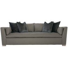 "Serenity Short Sofa Bench Set (90"") in Cerused Greige (796)"