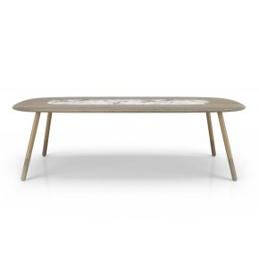 102'' Table with natural stone