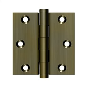 "3""x 3"" Square Hinge - Antique Brass"
