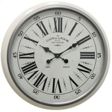 Metal & Glass Wall Clock  24in X 24in X 3in