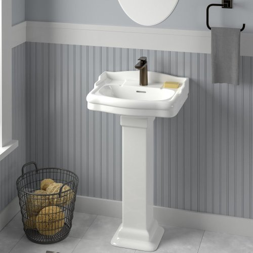 Stanford 460 Pedestal Lavatory - Single-Hole / White