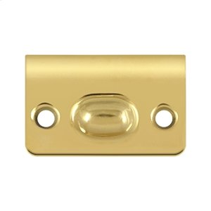 Strike Plate for Ball Catch and Roller Catch - PVD Polished Brass